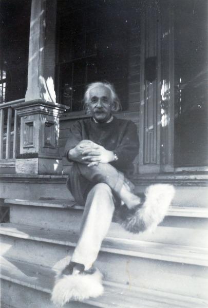 איינשטיין בנעלי בית