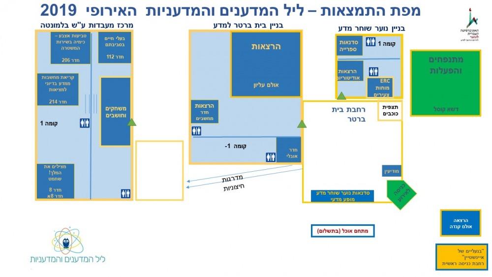 מפת התמצאות במתחם האירוע